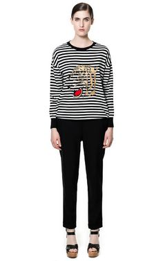 Image 1 of TROUSERS WITH ELASTIC WAISTBAND from Zara