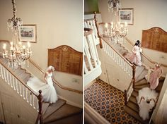 beautiful photos of brides and bridesmaids departing for the wedding (by Marianne Taylor)