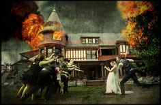 Best zombie-themed wedding photo you'll see all day.