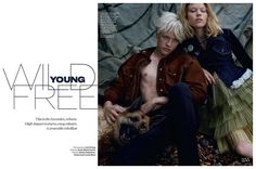 Lucky Blue Smith is Wild, Young & Free for British Elle 1970s Fashion Inspired Shoot