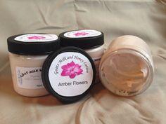 Goats Milk and Honey Lotion-Amber Flowers- 4oz on Etsy, $6.50