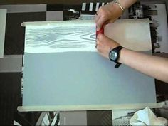How to DIY Lace Painted Furniture Tutorial + Video Decoupage Furniture, Paint Furniture, Furniture Makeover, Diy Woodworking, Painting On Wood, Wood Crafts, Diy Crafts, Wood Projects, Diy Home Decor