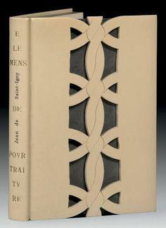 SAINT-IGNY (Jean de)  Elemens de poutraiture ou La metode de representer & pourtraire toutes les parties du corps humain. Paris, François L'Anglois, dit Chartres, s.d. [vers 1630]. BINDING: Renaud Vernier 1990 / E. D. Claude Ribal