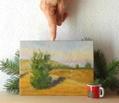 Tree and Field   Original Landscape Oil by BarraganPaintings, €65.00