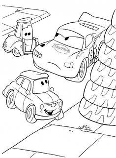 Guido E Saetta McQueen Disney Cars Da Colorare
