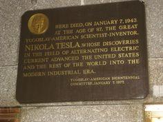 Tesla-Plaque