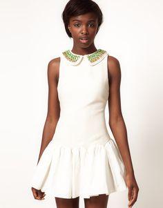 Three Floor Little Treasure Jewel Collar Dress
