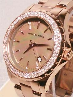 MADISON SWAROVSKI CRYSTAL GOLD WATCH