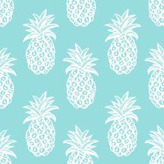 Pineapple Ocean  fabric by magentarosedesigns on Spoonflower - custom fabric
