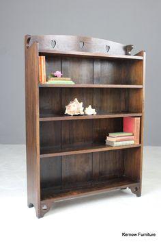 Forceful Antique Bookcase In Solid Oak Circa 1900 Antique Furniture