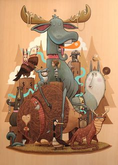 Check Dulk's street art and illustration works. Dulk shows in this website works done worldwide, from Spain to USA. Art And Illustration, Illustrations And Posters, Character Illustration, Amazing Drawings, Art Drawings, Graffiti, Surreal Art, Character Art, Concept Art