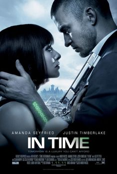 In Time, is a 2011 science fiction thriller film starring Amanda Seyfried, Justin Timberlake, Cillian Murphy, Olivia Wilde, Matt Bomer, Alex Pettyfer, Johnny Galecki, and Vincent Kartheiser. The film, written and directed by Andrew Niccol, was released on October 28, 2011.