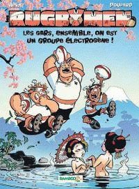 Les Rugbymen - Tome 10 Grand Format - Jeu Rugby 15 offert: Les gars, ensemble, on est un groupe electrogene ! Harlan Coben Books, Rugby Sport, Ebook Pdf, Free Apps, Audiobooks, This Book, Ebooks, Cartoon, Comics
