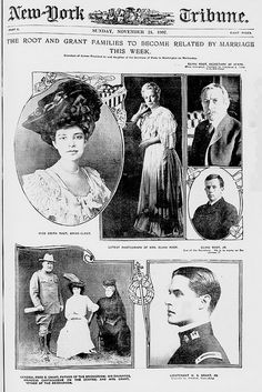 Old New York Tribune - Sunday November 24 1907. The Root and Grant Families become related by marriage.