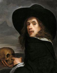 Michiel Sweerts, Flemish, 1618–1664, Self-Portrait with Skull,