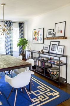 Gentleman's Bachelor Pad by Design Manifest- Dining Room with custom Credenza