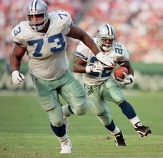 LG Starter Larry Allen, 6'3 355, 2nd round pick..HOF, this was the best Guard in the NFL so he is for sure the starter on our 2 deep greatest cowboy team ever.. benched 700 lbs and could move life a DE. Started 197 games..played for 14 years..