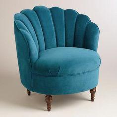 Peacock Blue Velvet Telulah Chair | World Market