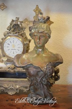 Antique French Bust Plaster by edithandevelyn on Etsy