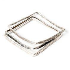 #winboticca Square bangles - silver by Larissa