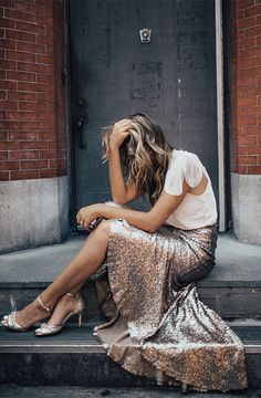 Cosmos Sequin Skirt + Gleam Capelet // Exclusive styles for BHLDN by Jenny Yoo