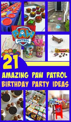If you are thinking of throwing your children a puppy party then these 21 Awesome Paw Patrol Party Ideas will have you being creative in no time at all.