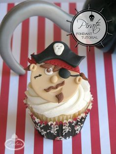 Follow this step-by-step tutorial to create a fondant pirate topper to adorn your cupcakes, me hearties, or ye be walking the plank!