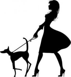 Walking Dog Silhouette