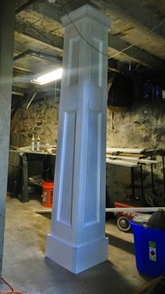 Here is another pillar lamp post and my little workshop. Garth Tirrell