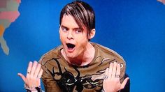 "Lately, I can't stop watching clips of Bill Hader's Stefon character. ""Is that Mick Jagger? No, it's a fat kid on a slip-n-slide."""