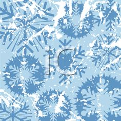 iCLIPART - Grunge snowflake background