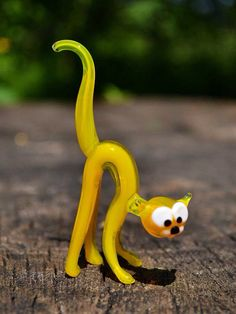Collectible cat glass figurine cat animals glass cat miniature