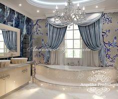 Дизайн интерьера ванной комнаты в коттеджном поселке Орловъ в стиле Ар Деко