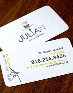 30 Examples Creative Chef Business Card for Inspiration -