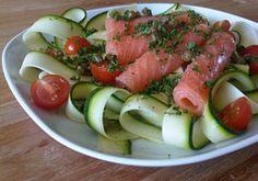 Salmon and Zucchini Salad - Savoir Maigrir de Jean-Michel Cohen