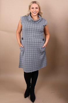 68c2835b53 Curve Whitney Dogtooth Print Dress. Virgo Boutique Fashion