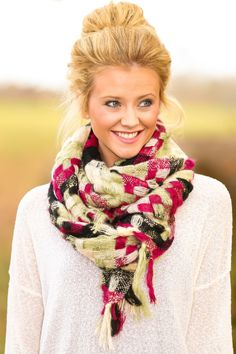 Reddress // When Autumn Falls Scarf-Sugar Plum - $34.00