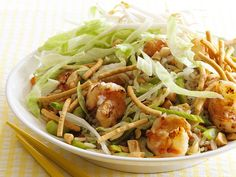 Asian Rice Salad With Shrimp from FoodNetwork.com