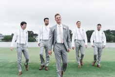 Groomsman Outfits | Pink | Suspenders