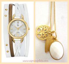 www.capricciplata.com #relojes #colgantes #plata #joyas # silver #moda #fashion # tiendaonline #verano #shopping #capricciplata Watches, Accessories, Natural Stones, Silver Jewellery, Clocks, Pearls, Pendants, Summer Time, Wristwatches