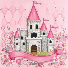 Princess Castle Personalized Canvas Reproduction