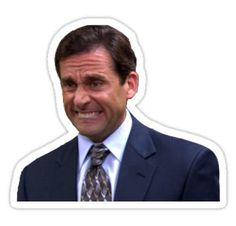 """""""michael scott"""" Stickers by swampyak Snapchat Stickers, Meme Stickers, Tumblr Stickers, Phone Stickers, Diy Stickers, Printable Stickers, Michael Scott, The Office Stickers, Office Memes"""
