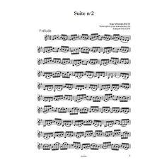 Suites de JS Bach transcrites pour clarinette. www.2mceditions.com
