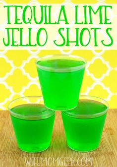 Tequila Lime Jello Shots  #margaritas