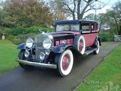 Cadillac V16 Seven Person Sedan 1930. in Black Sapphire and Rose ....Elegance Defined