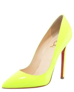 Pigalle Neon Pump by Christian Louboutin at Bergdorf Goodman.