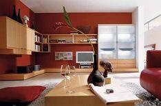 9 fantastiche immagini su soggiorno rosso | Home decor, Arredamento ...