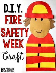 Check out these fire safety activities and centers for Kindergarten. Books, a craft, easy peasy FREEBIES, and MORE included! You& going to love this post! Fire Safety Crafts, Fire Safety Week, Camp Safety, Fireman Crafts, Firefighter Crafts, Preschool Themes, Kindergarten Activities, Preschool Ideas, Art Activities