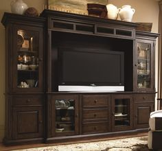 Down Home Entertainment Console Wall Unit by Paula Deen by Universal - Barrow Fine Furniture - Wall Unit Mobile, Dothan, Alabama & Pensacola, Florida
