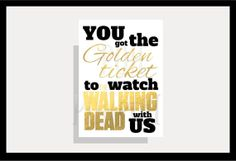Instant download twd zombie invitation card the by Printsofheart, £1.50